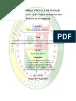 El Bullying y Su Incidencia en Los Estudiantes Del 3er Año de Bachillerato de La Unidad Educativa Fiscal