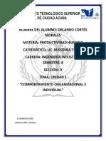 Unidad 1 Comportamiento Organiacizonal e individual
