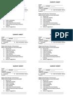 Community Survey Sheet