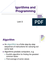 Algorithms and Programming Languages