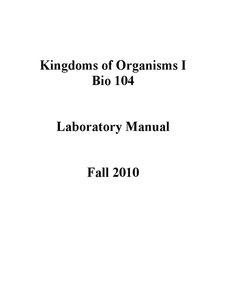 bio lab 1 2 answers