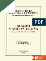 Mario Vargas Llosa - Elogio de La Lectura y La Ficción