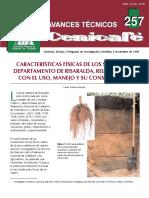 Características Físicas de Los Suelos Del Departamento de Risaralda, Relacionadas Con El Uso, Manejo y Su Conservación.(Avt0257)