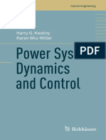 Power System Dynamics and Control, 1a. Ed. - Harry G. Kwatny, Karen Miu-Miller