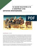 El Darwinismo Social Recurrente o La Propuesta de Esterilizar a Las Personas Desempleadas-2018!01!21