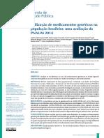 Utilizaçao Dos Medicamentos Genericos Na Populaçao Brasileira