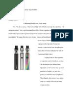 vaping essay