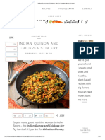 Indian Quinoa and Chickpea Stir Fry _ Eat Healthy, Eat Happy
