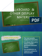 Chalkboard & Other Display Materials