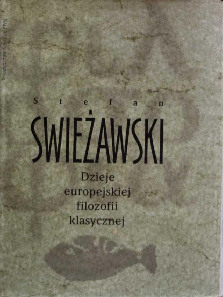 Swiezawski Stefan Dzieje Europejskiej Filozofii