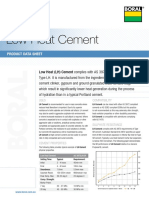 Low Heat Cement Product Data Sheet