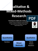 Introduction to Qualitative and Mixed Methods Research