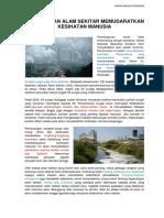 Pencemaran Alam Sekitar Memudaratkan Kesihatan Manusia