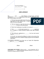 Joint Affidavit