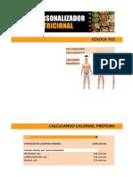 Nuevo Personalizador Nutricional Strongmass Actualizacion