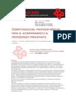 INVESTIGACIÓN_Competencias Del Profesor Mentor Para El Acompañamiento de Nuevo Profesor