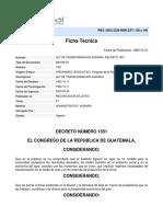Ley-ley de Transformacion Agraria Decreto 1551