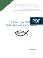 La Doctrina Bc3adblica Sobre El Bautismo Cristiano