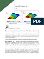 Understanding Geometric Nonlinearities