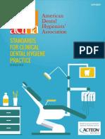 2016 Revised Standards for Clinical Dental Hygiene Practice
