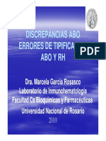 Discrepancias ABO - 1-06-2010 - Dra Marcela Garcia Rosasco