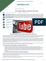 Cara Menyimpan Video Offline YouTube Ke SD Card Maret 2017