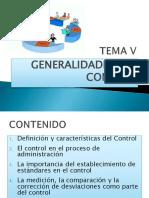 Tema v. Generalidades Del Control
