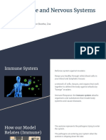 the immune and nervous systems