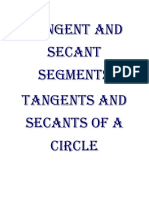 Tangent and Secant Segments