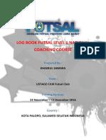 Tugas Log Book Futsal Level 1 National