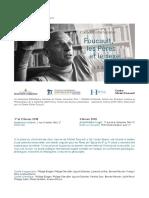 Programme Colloque Foucault, les pères et le sexe