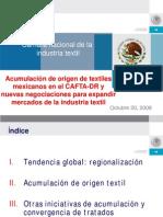 Acumulación de origen de textiles mexicanos en el CAFTA-DR - 2008