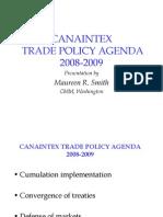 Canaintex Trade Policy Agenda 2008