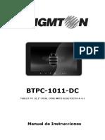 Manual Tablet Digital Brigmton Btpc 1011dc 2091-5