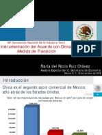 Instrumentacion del Acuerdo con China - Medidas de Transición - 2008