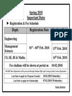 Important Dates Online Registration Sp-18 (1)