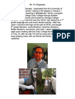 Brief GaVS Biography
