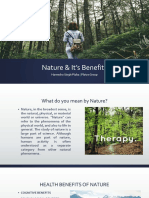 Nautre & It's Benefits