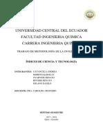 Indices de Ciencia y Tecnologia IMPRIMIR