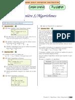 Chingatome Première S Algorithmes