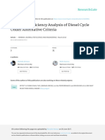 Power and Efficiency Analysis of Diesel Cycle Under Aşternative Criteria