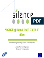 Reducing Noise From Trams