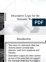Descriptive Logic for the Semantic Web