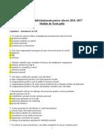 Modele de Teste Grila Pentru TIA 2016-2017