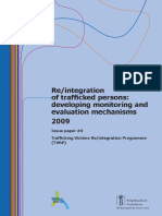 Re Integration of Trafficked Persons Developing Me Mechanisms Kbf Nexus 2009