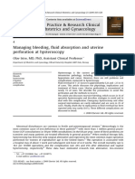 Best Practice & Research Clinical Obstetrics & Gynaecology Volume 23 Issue 5 2009 [Doi 10.1016%2Fj.bpobgyn.2009.03.003] Olav Istre -- Managing Bleeding, Fluid Absorption and Uterine Perforation at Hys