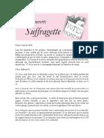 20180124 - Lettre à une suffragette