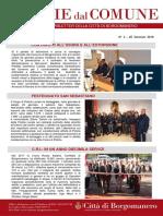 Notizie Dal Comune di Borgomanero del 25 Gennaio 2018