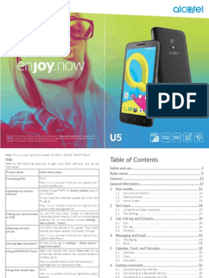 Alcatel u5 User Manual