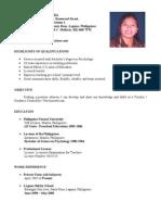 Copy of Resume - Mama